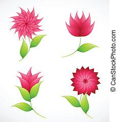 Flores naturales para el diseño. Vector