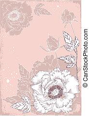Flores postales con peones