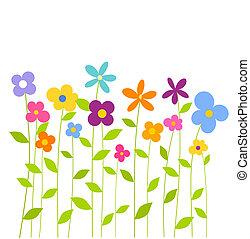 Flores primaverales coloridas