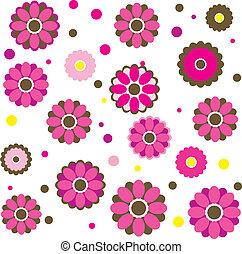 Flores primaverales coloridas. Vector