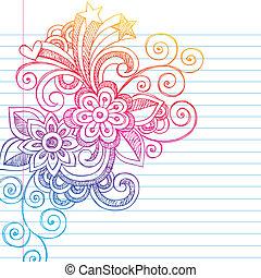 Flores que dibujan