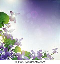 flores salvajes, violeta