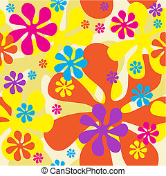 flores, seamless, plano de fondo