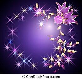 Flores y estrellas transparentes