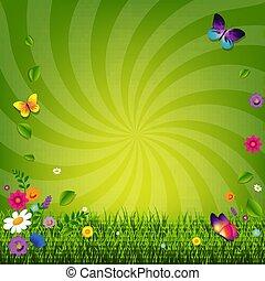 Flores y hierba