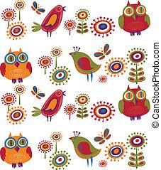 Flores y pájaros - 2