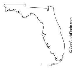 Florida (USA) esbozo de mapa