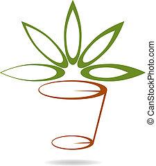 Florista / logotipe de la compañía