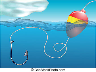 flotador, pesca