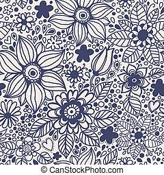 flowers., seamless, textura