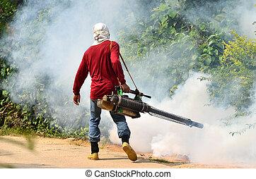 Fogging para prevenir la propagación de la fiebre dengue