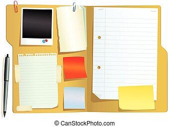 Folder con papeles.eps