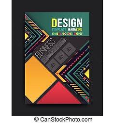 folleto del vector, folleto, revista