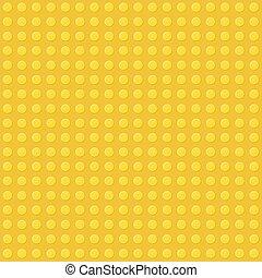 Fondo amarillo sin costura de bloque de construcción de plástico. Vector