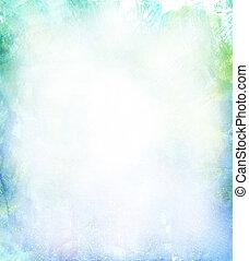 fondo azul, suave, acuarela, verde amarillo, hermoso