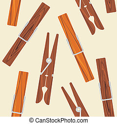 fondo beige, clothespins