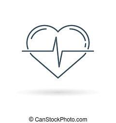 Fondo blanco del pulso cardíaco