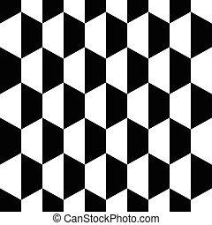 Fondo blanco negro de panal hexagon sin fondo