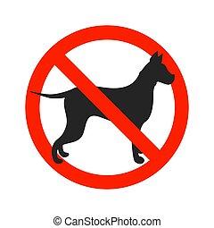 fondo., blanco, no, aislado, perros, señal