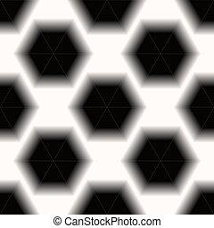 Fondo blanco y negro de hexágono sin fondo. Eps 10