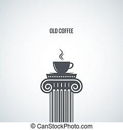 Fondo clásico de diseño de tazas de café