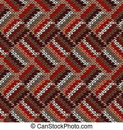 fondo., clásico, tejido, blanco, géneros de punto, rojo, seamless, moderno, ornament., pattern., elegante, moda, marrón