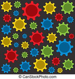Fondo colorido de engranajes
