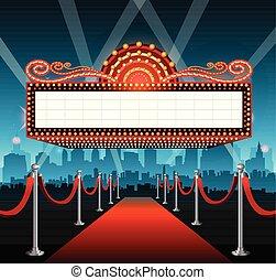 Fondo de alfombra roja de Hollywood