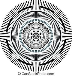 Fondo de arte en círculo