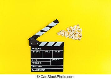 Fondo de cine. Mirar películas.