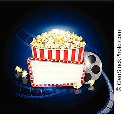 Fondo de cine pop corn