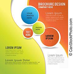 Fondo de contenido de Brochure, ilustración