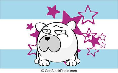 Fondo de dibujos animados de oso polar 5