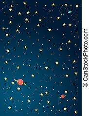 Fondo de dibujos animados del espacio exterior