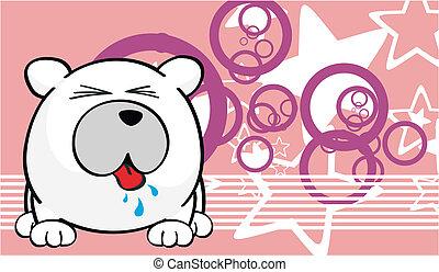 Fondo de dibujos animados del oso polar