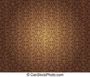 Fondo de diseño de empapelado marrón oscuro