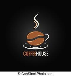 Fondo de diseño de frijoles de café