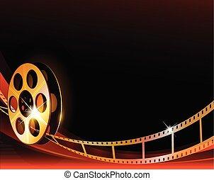 Fondo de diseño de películas de Hollywood