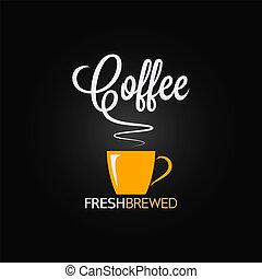 Fondo de diseño de sabor a taza de café