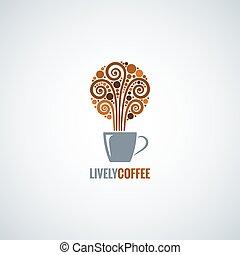Fondo de diseño de tazas de café