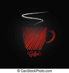 Fondo de diseño rojo de taza de café