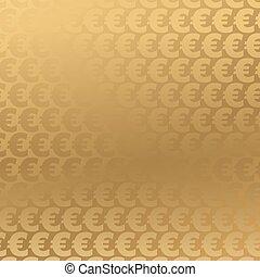 Fondo de euro dorado