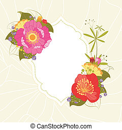 Fondo de flores coloridas de verano