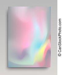 Fondo de hologramas volumáticos coloridos