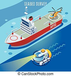 Fondo de investigación de camas marinas