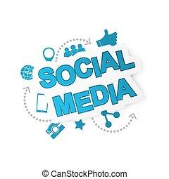 Fondo de las redes sociales con iconos de la red.
