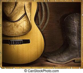 Fondo de música country vaquero