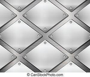 Fondo de metal y placas