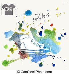 Fondo de moda de zapatillas