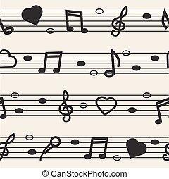 Fondo de notas musicales sin costura